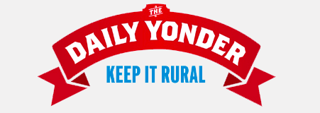 Daily Yonder Logo - red ribbon with Daily Yonder in white lettering