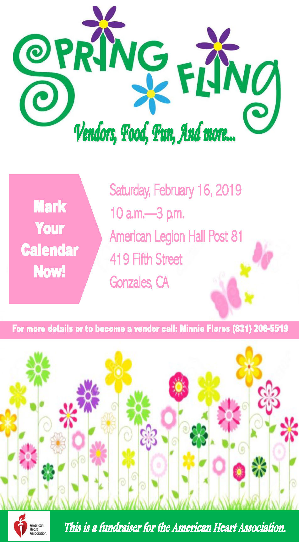 Spring Fling event on Feb 16, 10 am - 3 pm
