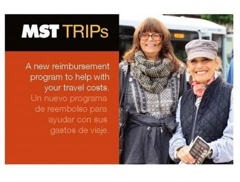 Photo of 2 woman. Flyer for MST reimbursement program, call 1-888-678-2871 to learn more.