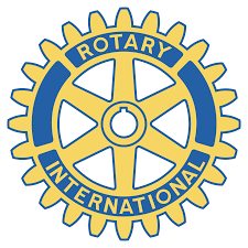 Rotary Club Logo, yellow and blue gear