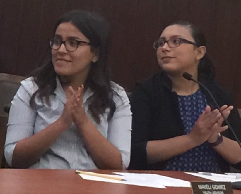 Nayeli & Cindy at City Council meeting