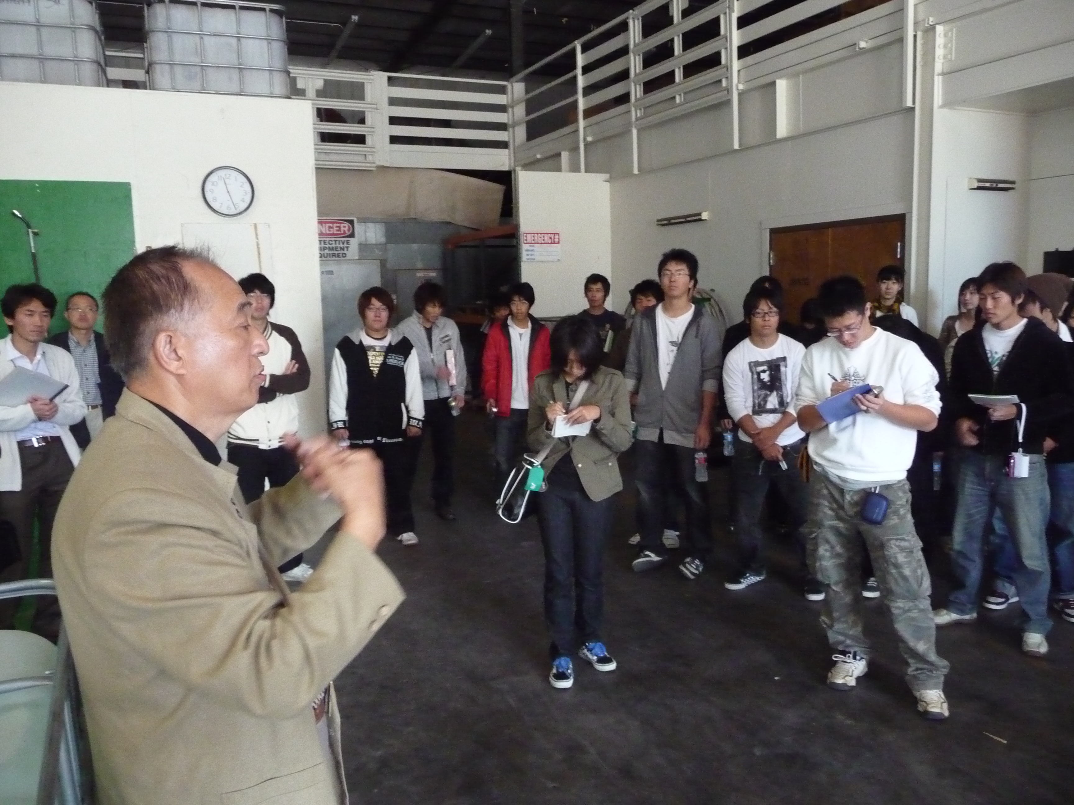 Healthy Soil teaching a group from Japan about sustainable agricultural practices