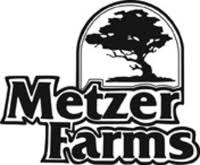 Metzer Farms logo with tree on top