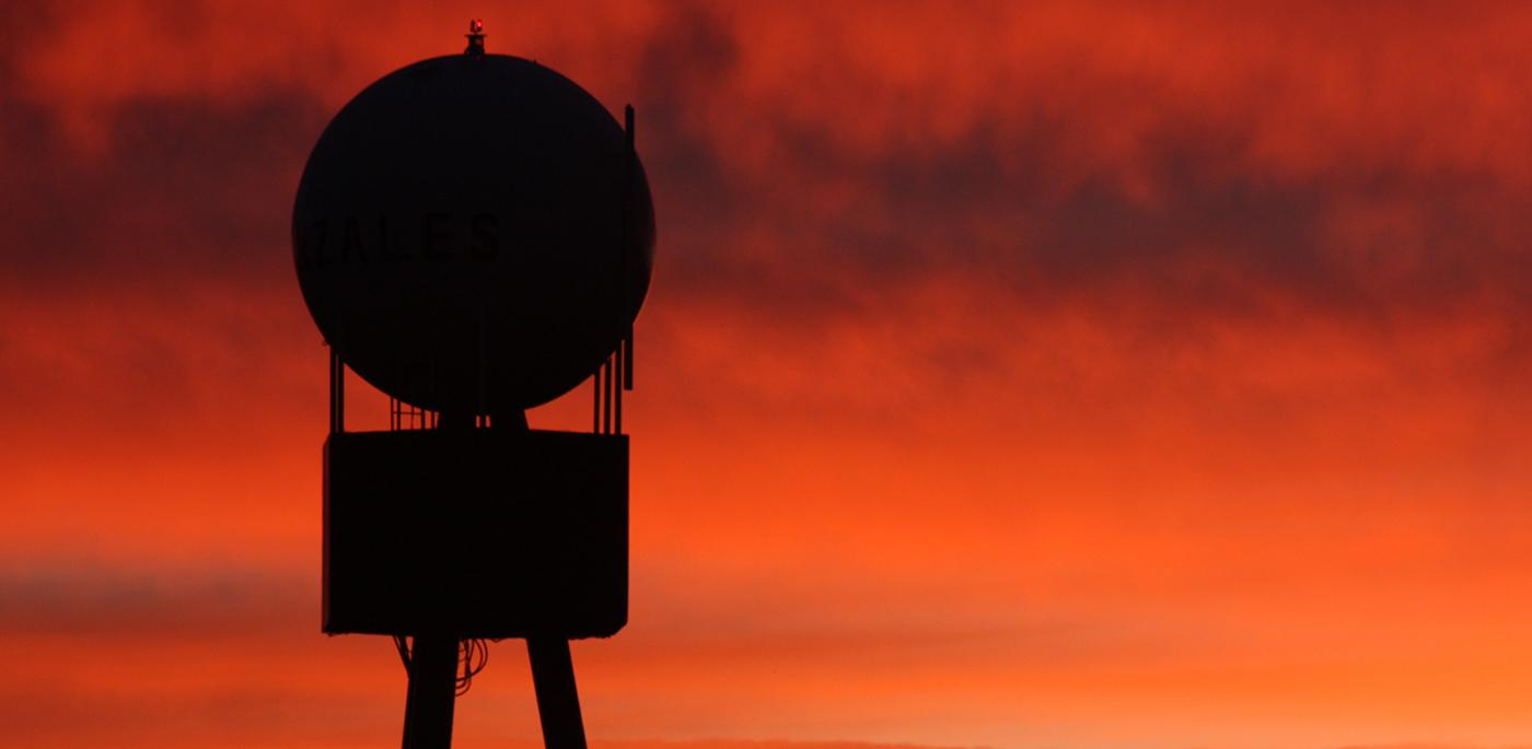 Gonzales Water Tower Sunset