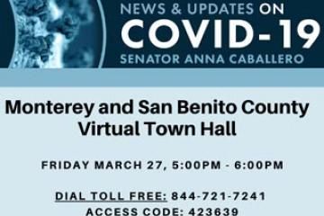 Monterey and San Benito County Virtual Town Hall