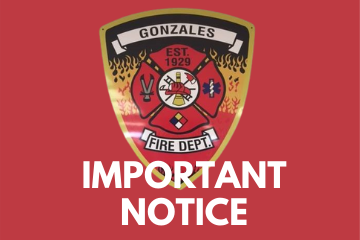 Important Notice Photo: Gonzales Fire Department Shield