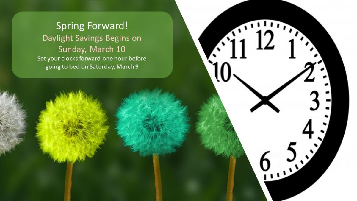 Daylight Saving happen on March 10