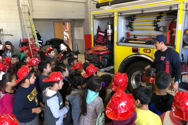 Photo of Kids Visiting Fire Department