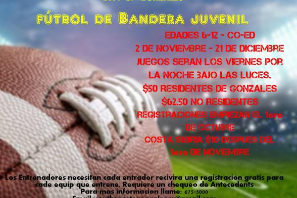 Youth Flag Football Information Spanish