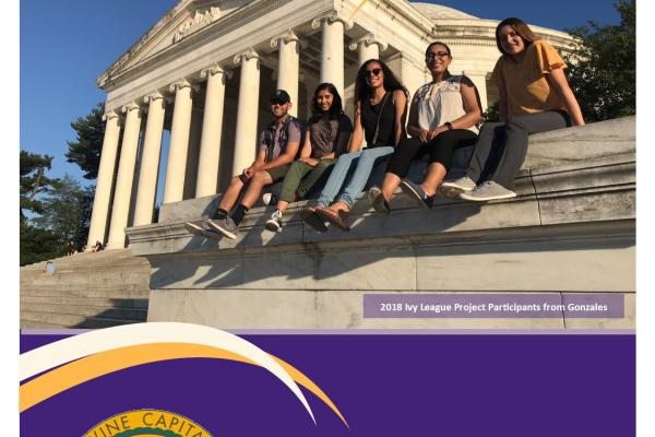 2018 Annual Report Cover Gonzales Youth in Washington, DC